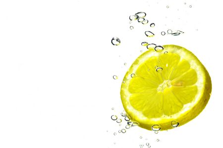 Splash slice lemon