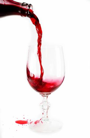 effusion: Pour out wine Stock Photo