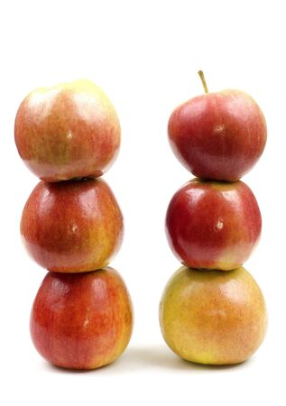 conceptions: Two towers of apples