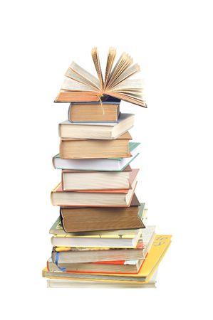 Books tower photo