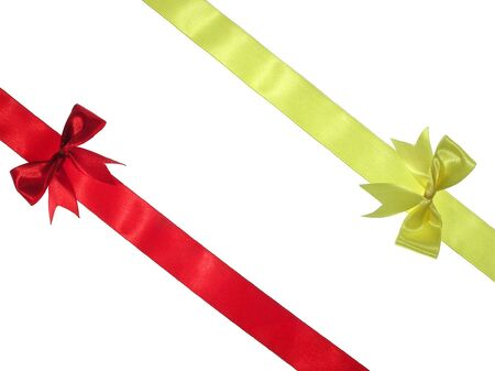 Ribbon with bow            Stock Photo