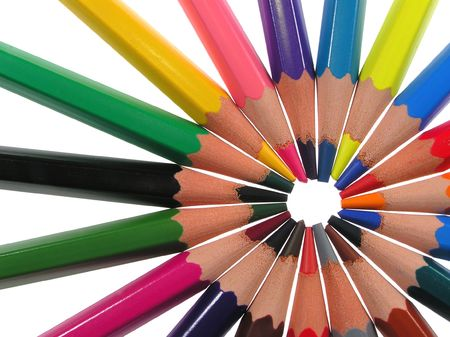 Crayons in circle       photo