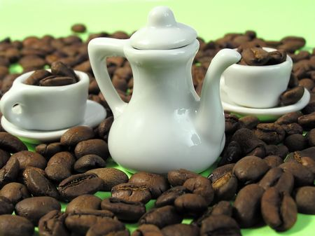infusing: Coffee beans          Stock Photo