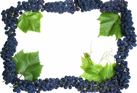 Grape frame isolated Stock Photo