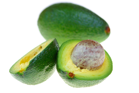 Avocado over white