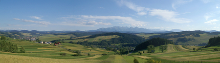 Panoramic mountains in Poland photo