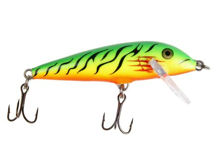 wobler: Fishing bait wobbler isolated on white with path