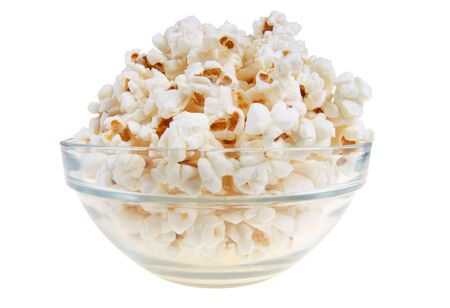 bowls of popcorn: Popcorn in glas bowl