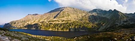 Panorama of Polish Tatra mountains photo