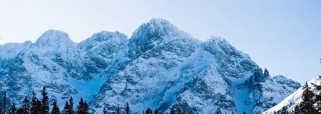 Panoramic Polish Tatras in winter scenery photo