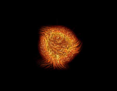 Exploding sun photo