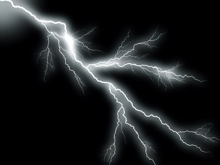 electric lightning:  Lightning storm
