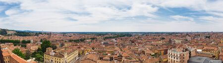 Panoramic view of the southeast of the city of Verona from the Lamberti tower during the day Stock Photo