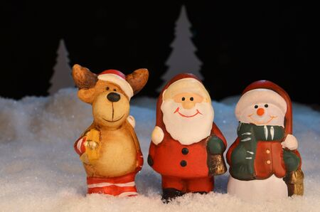 santa moose: Christmas Figures Stock Photo