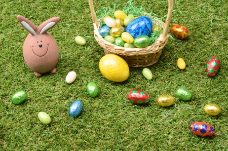 Easter decoration on grass Stock Photo - 18223713