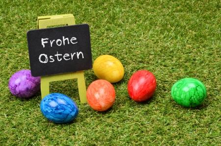 frohe: Chalkboard Frohe Ostern