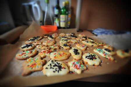 Baking tray full of Cookies