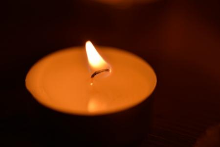 coziness: candlelight Stock Photo