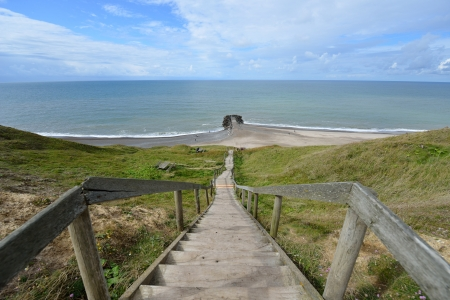 Stairs to the North Sea Stock Photo - 16351467