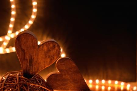 Hearts and decoration Stock Photo