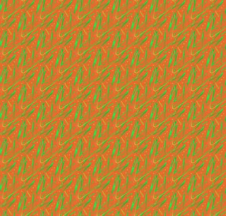 Orange green pattern as seamless tileable texture