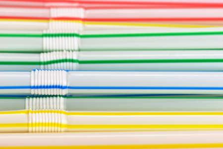 Many colorful drinking straws Stock Photo