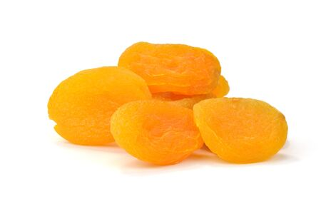 purgative: Dried apricots, pitted and sulfurized Stock Photo