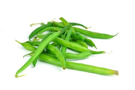 A pile of green bean pods