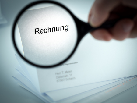 Cover letter with the word Rechnung in the letterhead