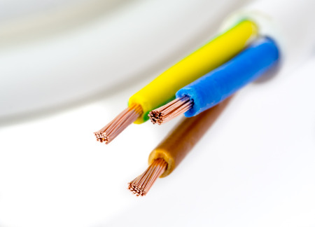 Stripped cords of a three-wire power cord