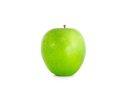 Green apple isolated Banco de Imagens