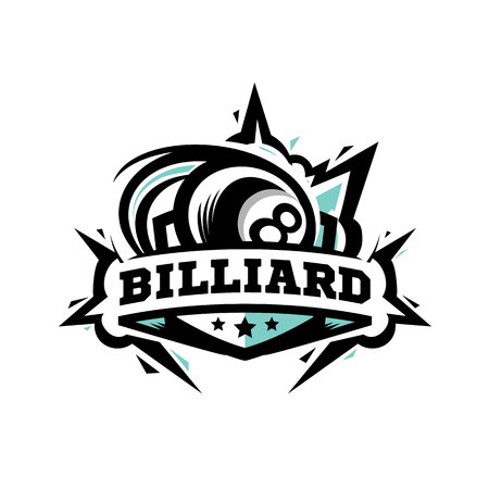 Swoosh Billiard Ball Logo Vector