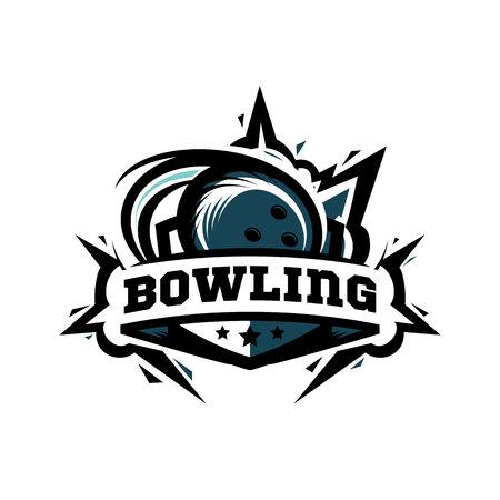 Swoosh Bowling Ball Logo Vector