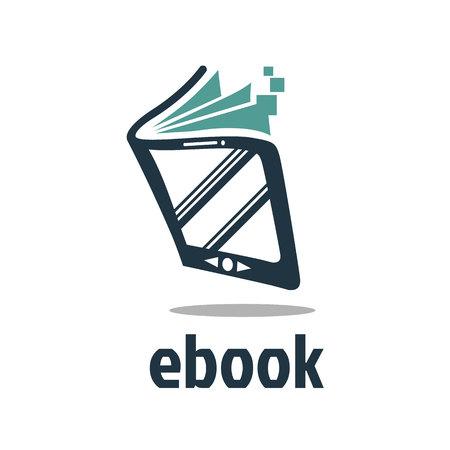 Ebook Logo Vector Иллюстрация