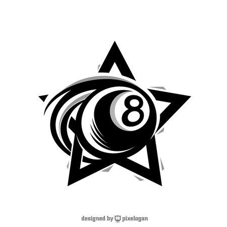 Sport Star Billiard Logo on white background.
