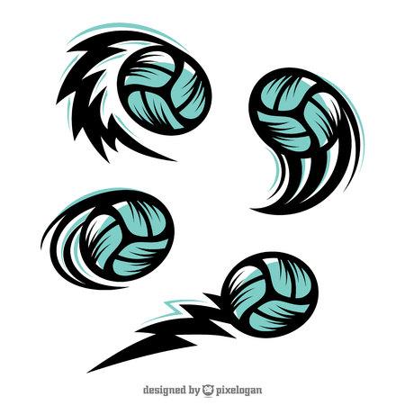 Volleyball Swoosh Set of 4 Ilustração