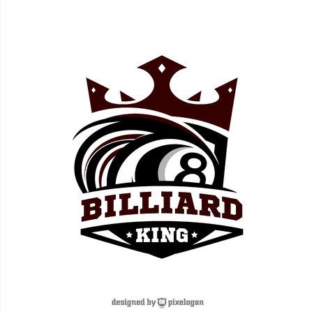 Billiard King Logo Vector