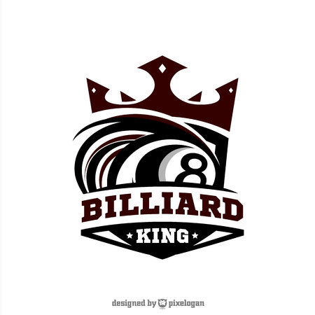 Billiard King Logo Vector