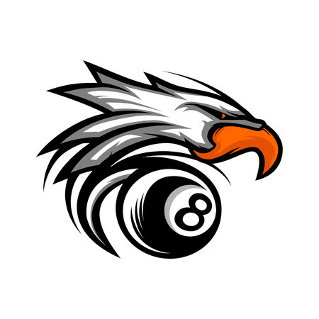 Eagle Billiard Ball Logo.