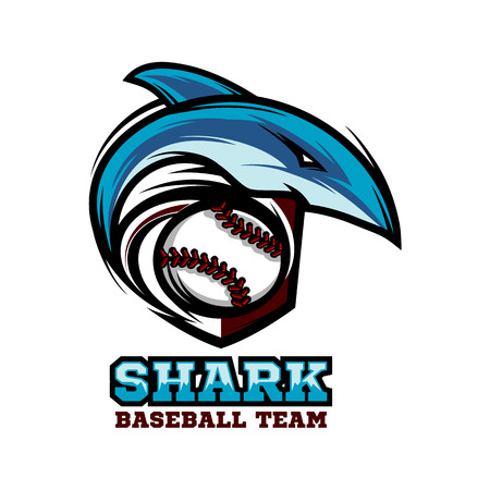 Shark Baseball Team Logo Vector