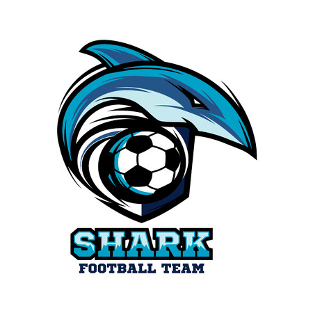 Shark Football Team Logo Vector