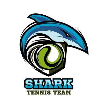 Shark Tennis Team Logo Vector