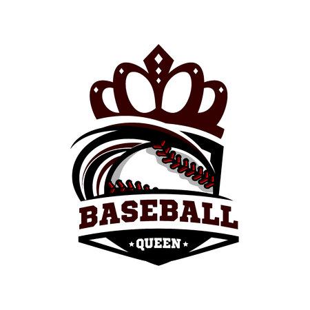 Baseball Queen Logo Vector. Illustration