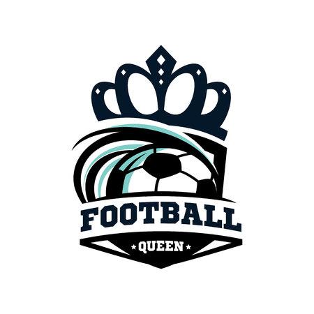 Football Queen Logo Vector. Illustration