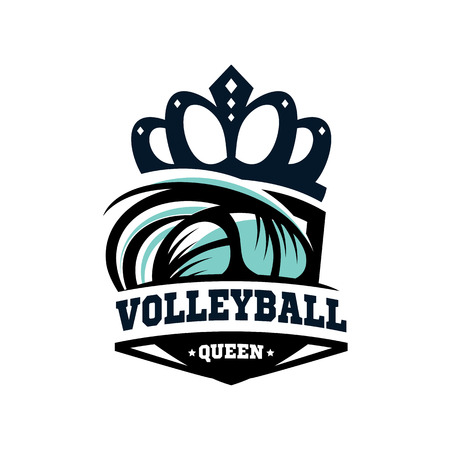 Volleyball Queen Logo Vector. Illustration