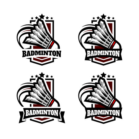 Badminton Army Badge Logo Vector illustration.