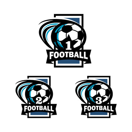 Football Number Badge Logo Vector illustration.