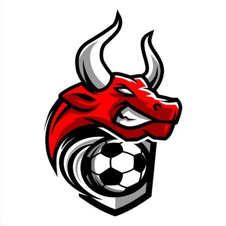 Bull Team Logo Ilustracja