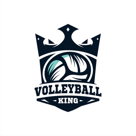 King Volleyball Logo vol 2.0 Stock Illustratie