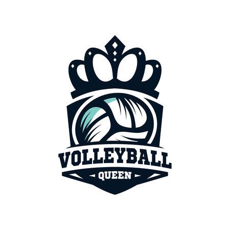 Queen Volleyball Logo vol 2.0 Stock Illustratie